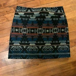 Dresses & Skirts - Tribal pencil skirt SZ 4